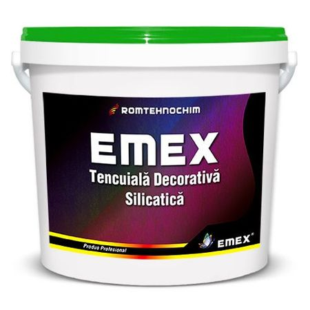 "Tencuiala Decorativa Silicatica ""EMEX"", Bidon 25 KG la pret bun"