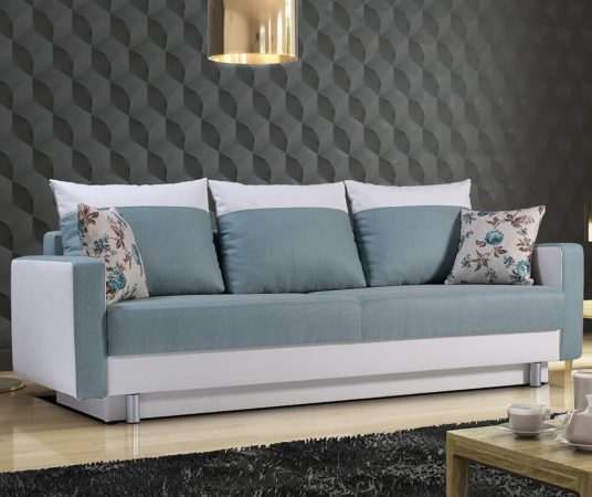 Canapea cu 3 locuri Tamara Blue Enzo la pret excelent!