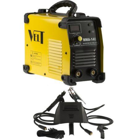 Invertor de sudura industrial Velt MMA 140, 140 A, 230 V, electrod 1.6-3.25 mm, 4.3 kg, accesorii incluse la pret decent