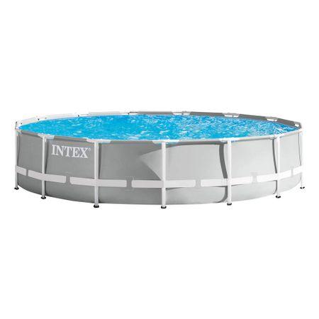 O piscina cu cadru metalic de calitate de la Intex este Prism Frame