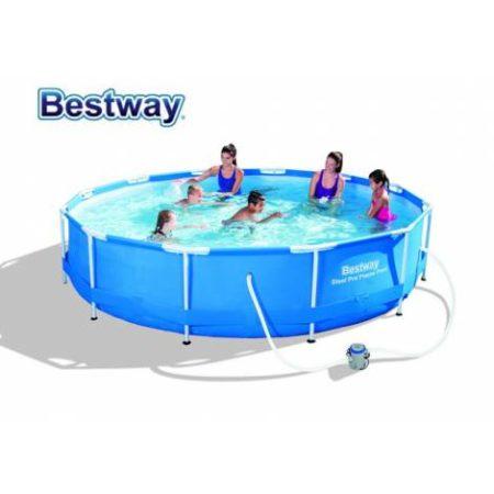 Firma Bestway prezinta piscina cu cadru metalic Steel Pro la pret bun