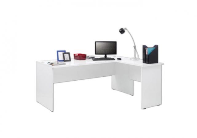 Descopera un birou alb lucios ideal pentru orice locuinta.