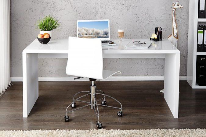 Bucura-te de un birou alb lucios ideal pentru casa ta!