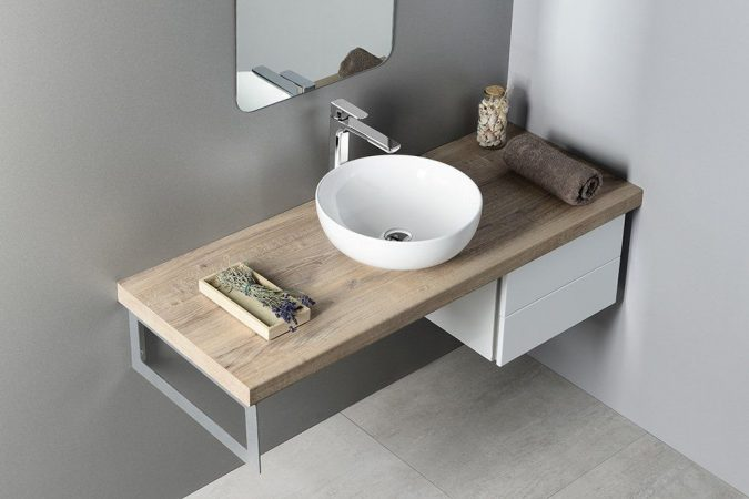 Integreaza la tine acasa lavoar baie pe blat perfect.
